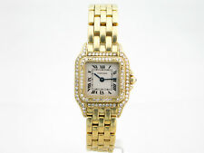 Cartier Panthere 18k Oro Diamante Set LADIES WATCH ref, 8057915 BOX & Papers