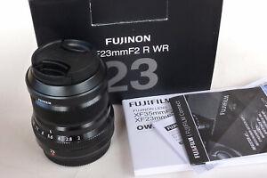 FUJINON XF 23mm f2 R WR LENS BLACK. BOXED, NEAR MINT.