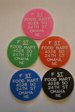 SALE JAHR/'s food stamp token USDA 1 c /& 5c  pair small unique size 15//16th inch