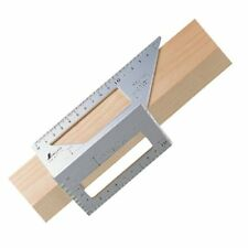 New Shinwa Square Layout Miter 45 + 90 Degrees Metric Aluminium Ruler From Japan
