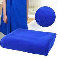 Absorbent  Microfiber Dry Bath Beach Towel Wash cloth Swimwear Shower Blue