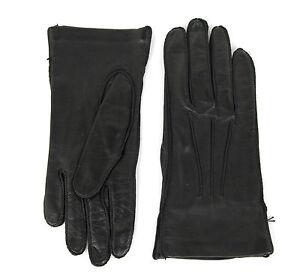NEW Authentic Bottega Venega Womens Leather Gloves Black 306015 1000