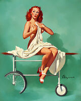 CANVAS 1960/'s Elvgren Pin-Up Poster Dampened Doll Art print POSTER