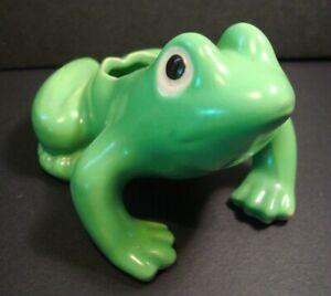 "cute little vintage ceramic FROG planter - Made in Japan - 4 1/2"" long"