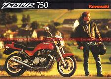 KAWASAKI ZEPHYR 750 Type ZR 750-C1 : Brochure Dépliant Advertising Moto #0259#