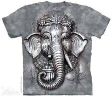 THE MOUNTAIN BIG FACE GANESH HINDU SPIRITUAL ELEPHANT HEAD T TEE SHIRT S-5XL