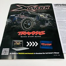 Traxxas X-Maxx Xmaxx Model 77086-4 Quick Start Guide Manual Pack New