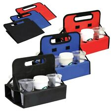Brand New Folding Reusable Drink Beverage Beer Picnic Cup Carrier Caddy Holder