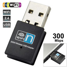 USB Wireless-N Adapter 300Mbps WiFi Mini Dongle for PC Laptop LAN Network 2.4GHz