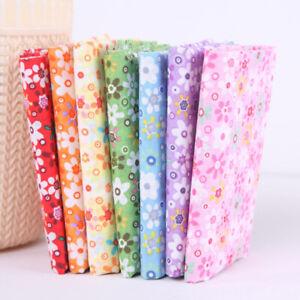 7x 100% Floral Cotton Patchwork Quilt Craft Fabric Scraps Remnant Value Bundles