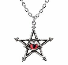 Red Curse Magick Pentagram Pendant Evil Red Snake Eye Amulet Alchemy Gothic P805