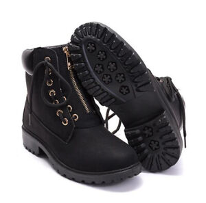 Women Ladies Boots Winter Outdoor Antiskid Work Ankle Boots Casual Lace Up Shoes