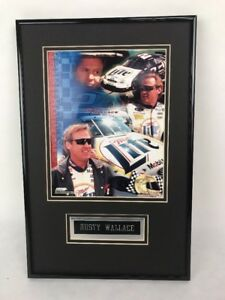 Rusty Wallace Picture Miller Lite #2 Photo File Black Unisex Adult Rare