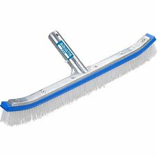 Heavy Duty Strong Pool Cleaning Brush with Ez Clips - Cleans Walls & Tiles 18""