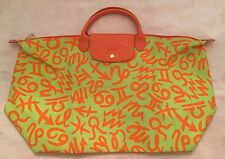 2015 LONGCHAMP X JEREMY SCOTT Le Pliage Zodiac Bag NEW AND LIMITED XLARGE RARE!