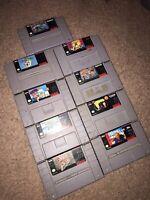**Rare SNES Super Nintendo Games Lot! 9 Games Great Deal (All 100% Authentic!)