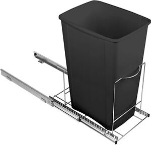 """Pull Out Trash Can Shelf - Adjustable – One or Two Cans 9-7/8""""W – 17""""L"""