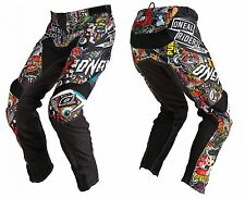 O'Neal Mayhem Protective Rubber Patches Lightweight Men's Pants Black /Multi XS