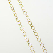 16 Inch 14k Gold Filled Twisted 3.5mm Round Cable Chain Necklace
