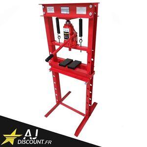 Presse hydraulique d'atelier sur colonne 20T - 20 Tonnes - Automobile