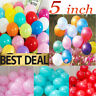 """200 standard 5"""" size round Latex Small Party Decorations Balloons 17 colours"""