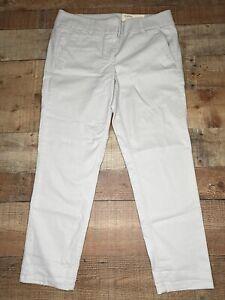 New Ann Taylor LOFT Marisa Skinny Pants Khaki Tan 8 Cotton Stretch NWT $59