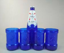 Glasses Kronenbourg 1664 Blanc. Blue beer glass, 4 pcs. Handmade.