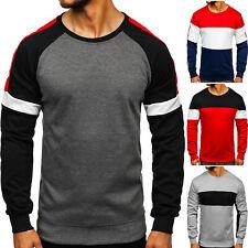 Sweatshirt Pullover Rundhals Langarmshirt Basic Classic Herren Mix BOLF Motiv