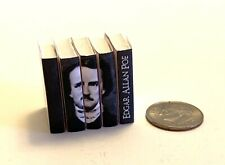 Dollhouse Miniature Edgar Allan Poe Deluxe Edition 5 books with Artistic Spines