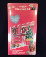 BARBIE HOLIDAY DECORATING KIT Christmas Wal-Mart Exclusive 1998 Hallmark SEALED