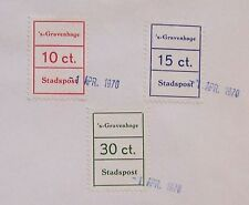 Stadspost Den Haag 1970 - Cijferzegels op papier met 1e dag stempel
