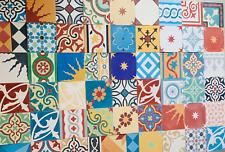 1m² echte Zementfliesen Boden Wand spanisches andalusisches Dekor Patchwork