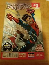 AMAZING SPIDER-MAN #1 (Marvel Comics 2014) 1st App Appearance CINDY MOON (SILK)