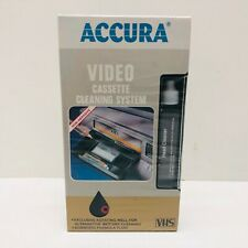 Video Cassette Head Cleaning System VHS VCR Player Recorder Wet/ Dry Cleaner