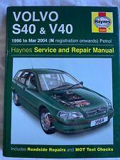 Volvo S40 V40 Haynes Service Repair Manual 1996-2004