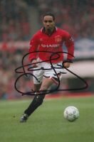 PAUL INCE HAND SIGNED 6X4 PHOTO - FOOTBALL AUTOGRAPH - MANCHESTER UNITED.