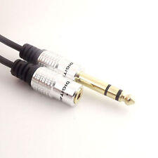 "1x 1ft 6.35mm 1/4"" Male Plug to 3.5mm 1/8"" Female Stereo Mic Audio Adapter Cable"