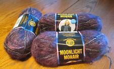 3 Lion Brand Moonlight Mohair Yarn Purple Mountain ~discontinued yarn