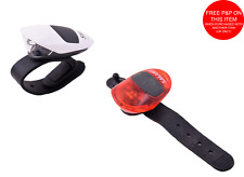 Smart LS043 Led MTB F&R Light Set Rubber Silicone Wrap Around Helmet Or Bike