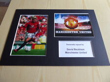 David Beckham Manchester United mounted photograph original autograph signed COA