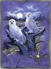 Snow Owl Handmade Wall Clock   Great Gifts