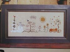 VINTAGE COUNTED CROSS STITCH PATTERN: THE SEASONS Bent Creek Book BC1060