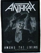 """Anthrax """"among the living"""" Patch/ricamate 602465 #"""