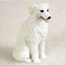Kuvasz Mini Resin Dog Figurine Statue Hand Painted