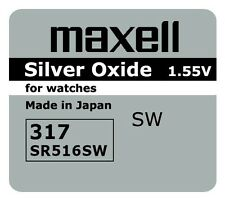 2 BRAND NEW SR516SW 317 Silver Oxide Watch Battery Made in Japan 12-2019