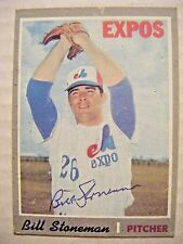 BILL STONEMAN signed EXPOS 1970 Topps baseball card AUTO Autographed CUBS ANGELS