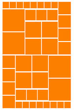 42 ORANGE SQUARE VINYL WALL DECALS STICKER GIRLS BEDROOM Teen Baby Nursery Dorm