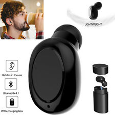 Noise Cancelling Bluetooth Headset Wireless Earbud Handsfree Call Earpiece Mic