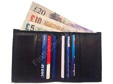 Calidad de cuero real de tarjeta de crédito billetera soporte Delgado Mini De Viaje Negocios Dinero