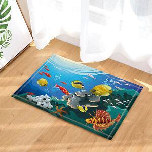 Ocean Tropical Fish Coral Undersea World door mat Bath Carpet doomat Bathmat
